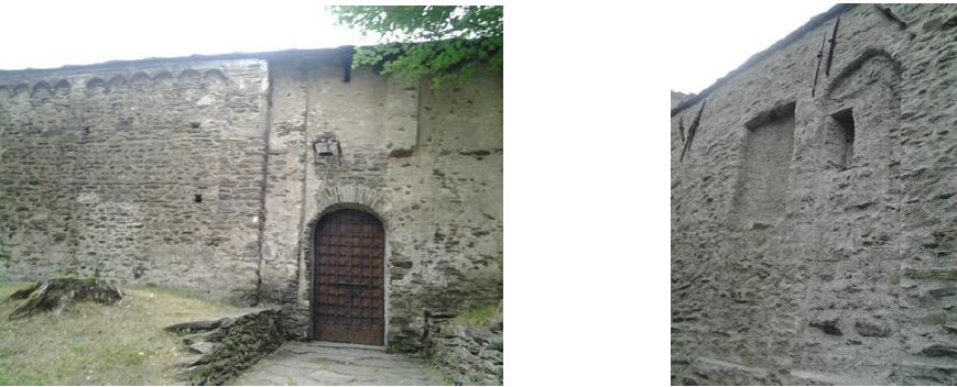 Fig. 16. Cappelle di S. Maria e S. Eldrado, fronti laterali delle cappelle di S. Salvatore e S. Michele