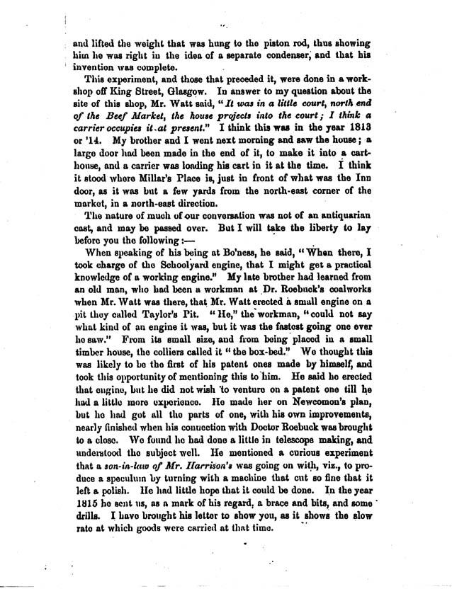 Reminiscences of James Watt
