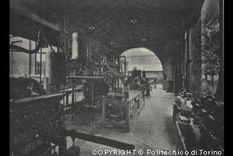 Sala prova motori di Aeronautica presso il Laboratorio per gli studi sperimentali di Aeronautica al Castello del Valentino