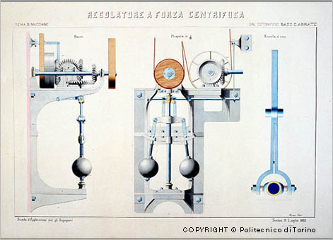 Centrifugal governor from the cotton mill Basse e Abrate